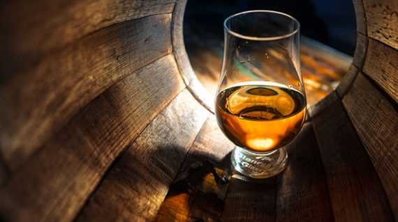 Whisky in a cask